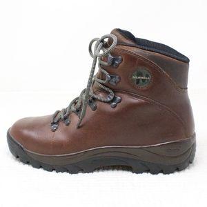 Merrell Summit Dark Brown Leather Hiking Boots 8